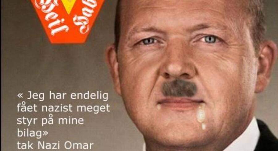 Screendump af Omar Marzouks »valgplakat«.