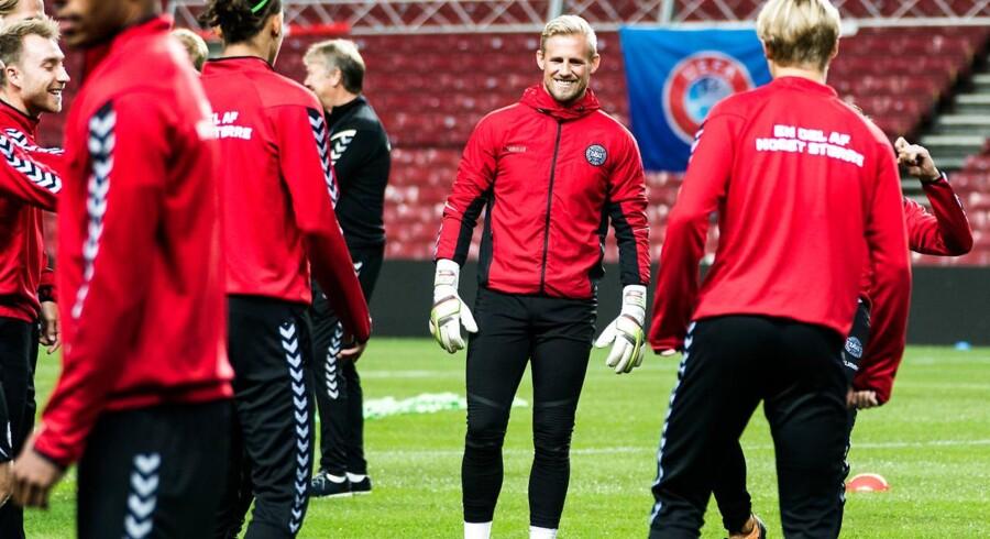 Arkivfoto. Det danske fodboldlandshold er havnet i andet lag i Uefas nye landsholdsinitiativ, Nations League.