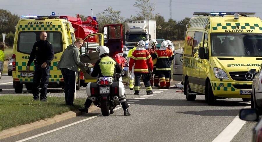 Færre bliver lykkeligvis dræbt i trafikken. arkivfoto