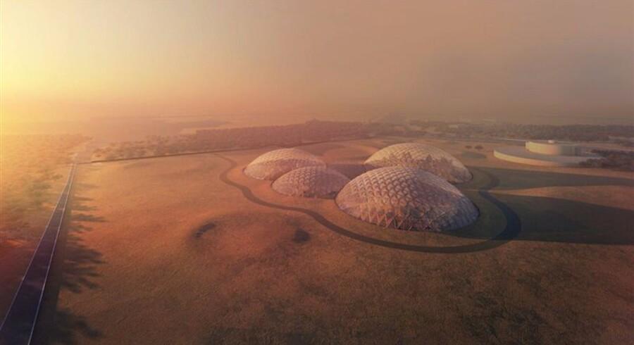 Med Mars-by-projektet sigter Dubais ledere efter at opbygge den første beboelse af Mars de næste 100 år. Foto: Dubais pressekontor