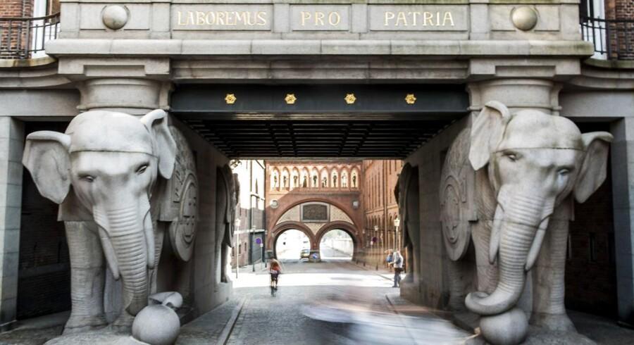 Elefantporten på Carlsberg er fra 1901 og fredet.