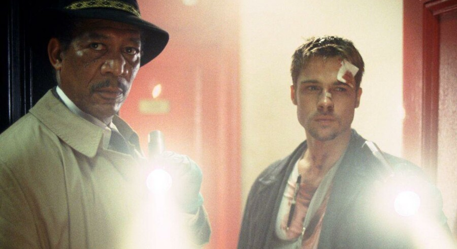 Morgan Freeman og Brad Pitt i David Finchers »Seven«. Foto: PR
