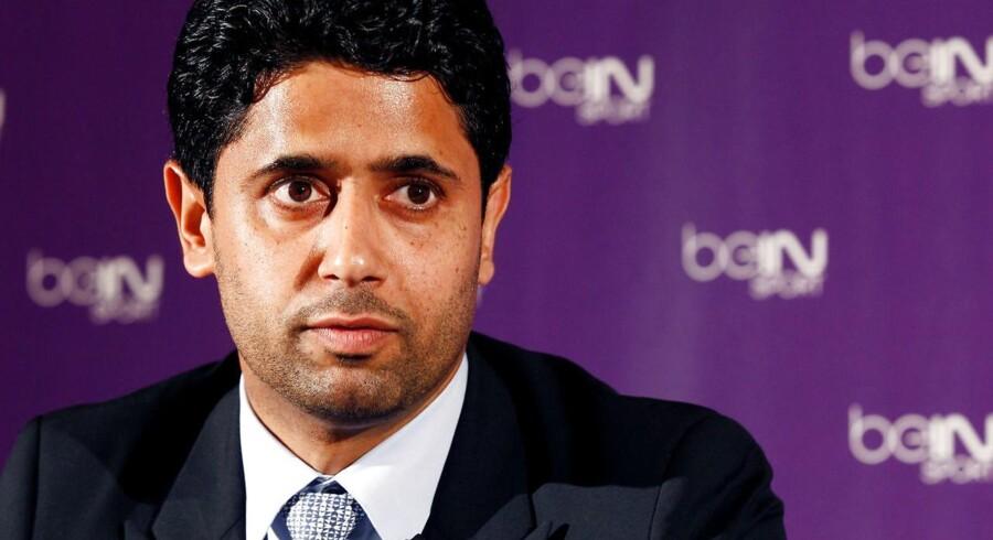 Arkivfoto. Nasser al-Khelaifi skal til afhøring i en sag om salg af rettigheder til kommende VM-slutrunder i fodbold.