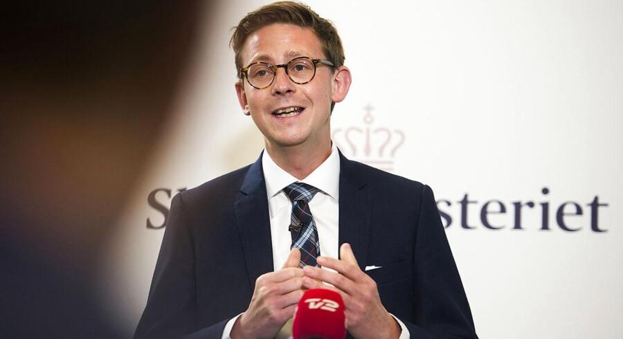 Skatteminister Karsten Laurtitzen. Arkivfoto.