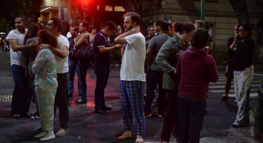 Mexico er blevet ramt af et historisk stort jordskælv AFP PHOTO / LUIS PEREZ