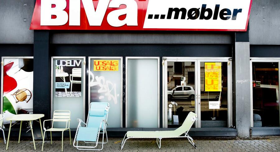 ARKIVFOTO. Biva, der nu er et online-møbelhus, blev i sidste uge begæret konkurs.