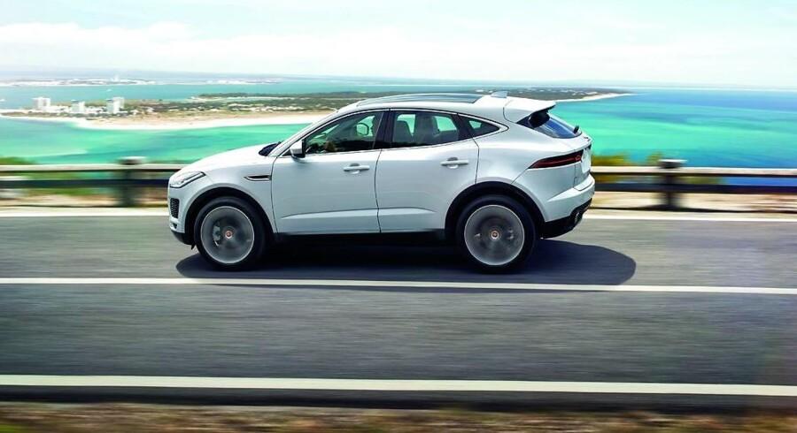 Jaguars nye håb. Den kompakte SUV E-Pace er en direkte konkurrent til BMW X1, og den skal sælges fra 414.000 kr.