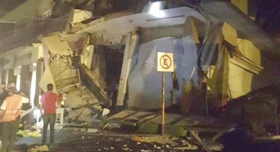 Mexico er ramt af et jordskælv. Her i Oxaca, en by på størrelse med Aarhus