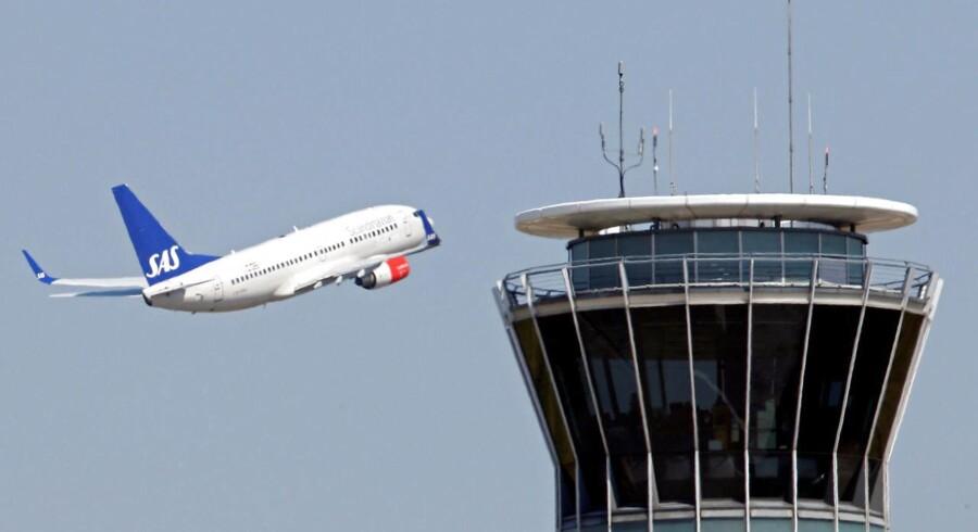 SAS fik i december sidste år et fald i passagertrafikken. Arkivfoto.