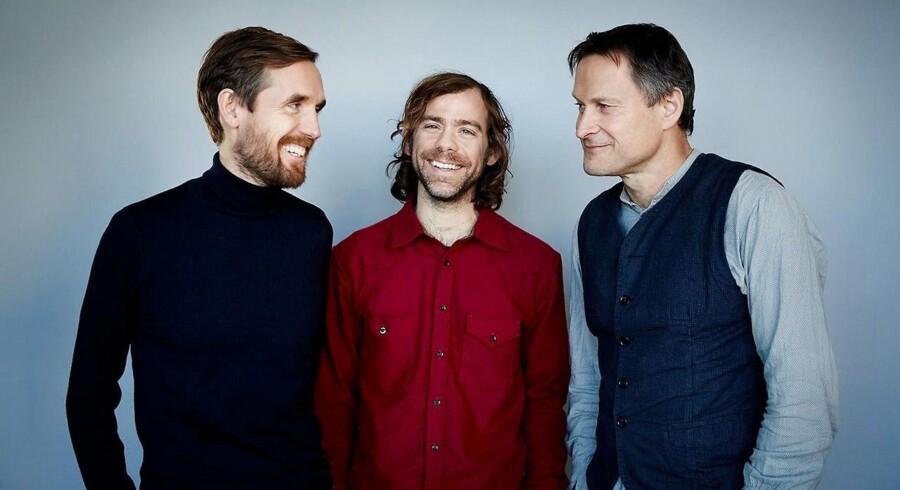 Trioen bag den ny festival Haven. Fra venstre Mikkel Borg Bergsø, Aaron Dessner og Claus Meyer. Foto: PR/Haven.