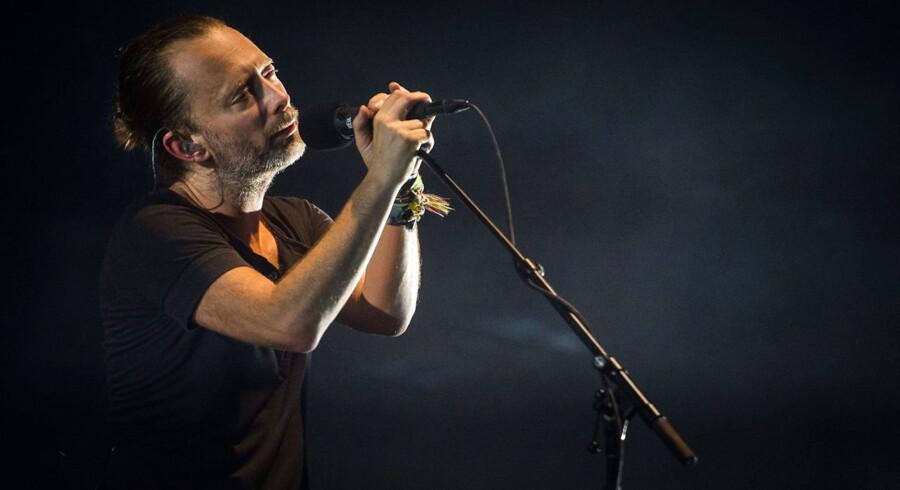 Thom Yorke i front for Radiohead, der er et af Northside-programmets store scoops. Her ved en koncert i Berlin i 2016.