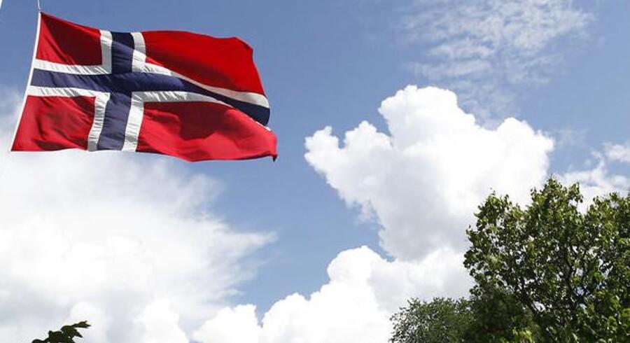 Arkivfoto: Norsk flag.
