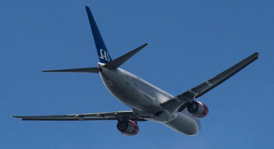 Tager man på en charterferie med Apollo til sommer eller til næste vinter, er det meget sandsynligt, at rejsen bliver med et fly fra SAS. Arkivfoto.
