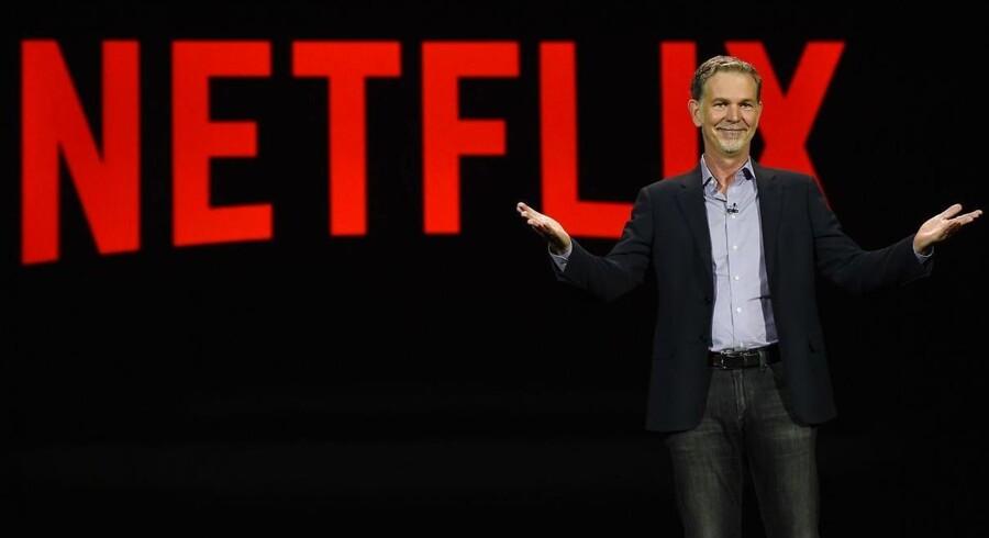 Netflix' topchef, Reed Hastings, annoncerede i sidste uge, at filmstreamingtjenesten åbner i endnu 130 lande. Nu begrænses adgangen fra land til land. Arkivfoto: Ethan Miller, Getty Images/AFP/Scanpix