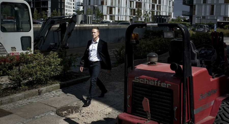Martin Lavlund er CEO for udbudsportalen Colego der gør sig i at formidle kontakt, tilbud og ratings mellem viksomheder og kunder. Blandt andet mellem tømreren og husejeren. Virksomheden giver endnu ikke overskud. Her ses virksomhedens stifter, Martin Lavlund.