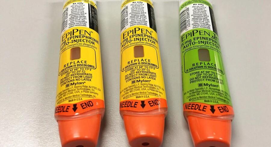 Medicinalselskabet Mylan har været under hård kritik for at hæve prisen på Epipen med omkring 500 pct. på under ti år.