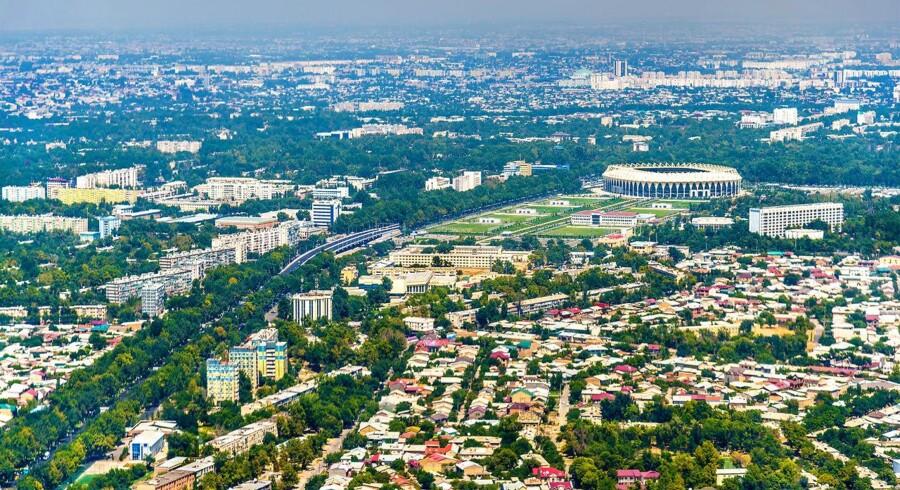 I 2007 betalte Telia penge under bordet for at købe retten til at sælge mobiltelefoni i Usbekistan, her hovedstaden Tasjkent. Der er nu udsigt til en noget mindre bøde end oprindelig forventet. Arkivfoto: Shutterstock/Scanpix