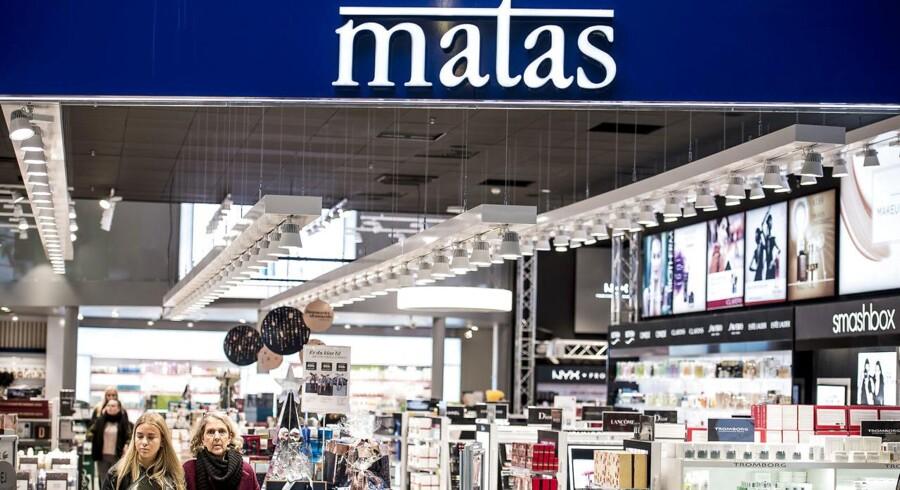 Matas i shoppingcenteret Fields i København, onsdag den 7. november 2017. Matas kommer onsdag med regnskab for første halvår 2017/18. Det er den nye direktør Gregers Wedell-Wedellsborgs første regnskab som direktør for materialistkæden.. (Foto: Mads Claus Rasmussen/Scanpix 2017)