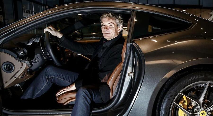 Tidligere Benjamin-ejer Johnny Laursen i sin Ferrariforretning Formula Automobile A/S i Allerød.