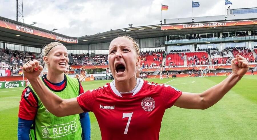 Sanne Troelsgaard Nielsen efter 2-1 sejren over Tyskland.