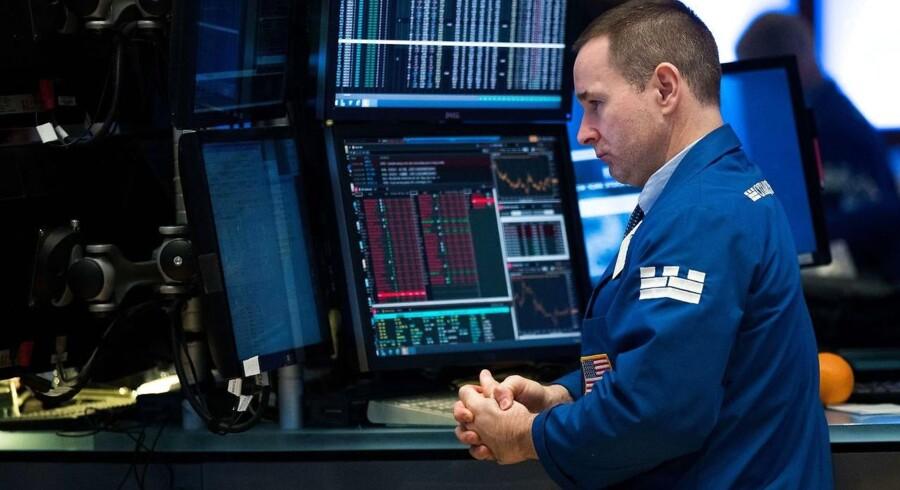 Den amerikanske centralbank kommer ikke til at forstyrre finansmarkederne med en renteforhøjelse, når banken onsdag aften melder ud efter sit to dage lange møde. Arkivfoto: New York Stock Exchange.