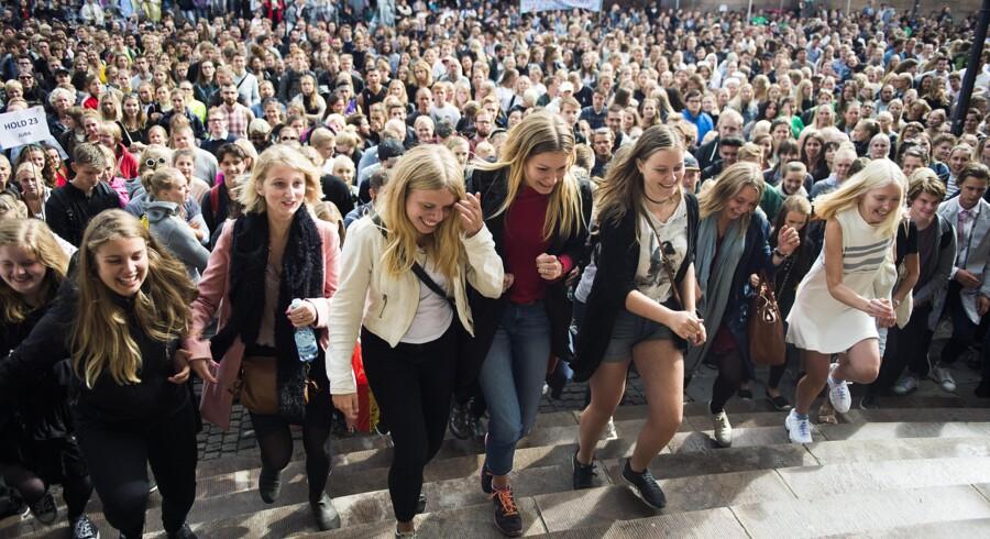 Immatrikulationsfestpå Københavns Universitet på Frue Plads. Foto: Ólafur Steinar Gestsson
