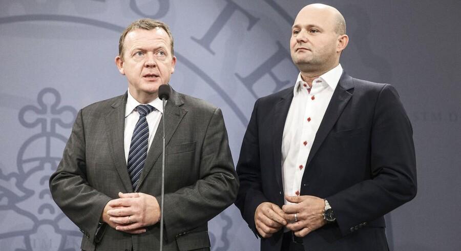 Pressemøde i spejlsalen Lars Løkke Rasmussen og Søren Pape d. 10. december 2014. (Foto: Jonas Skovbjerg Fogh/Scanpix 2014)