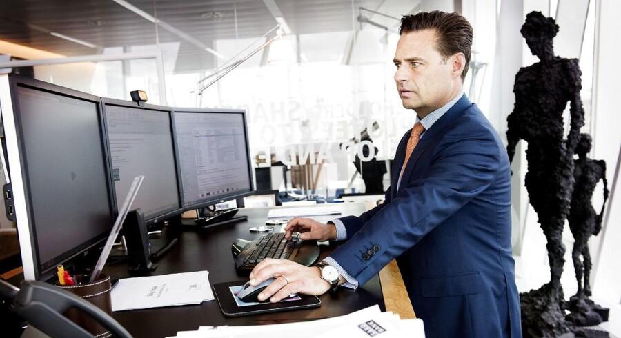 Arkivfoto: Saxobank-bossen Kim Fournais. Dom i Østre Landsret besværliggør bankens jagt på trecifret millionbeløb.