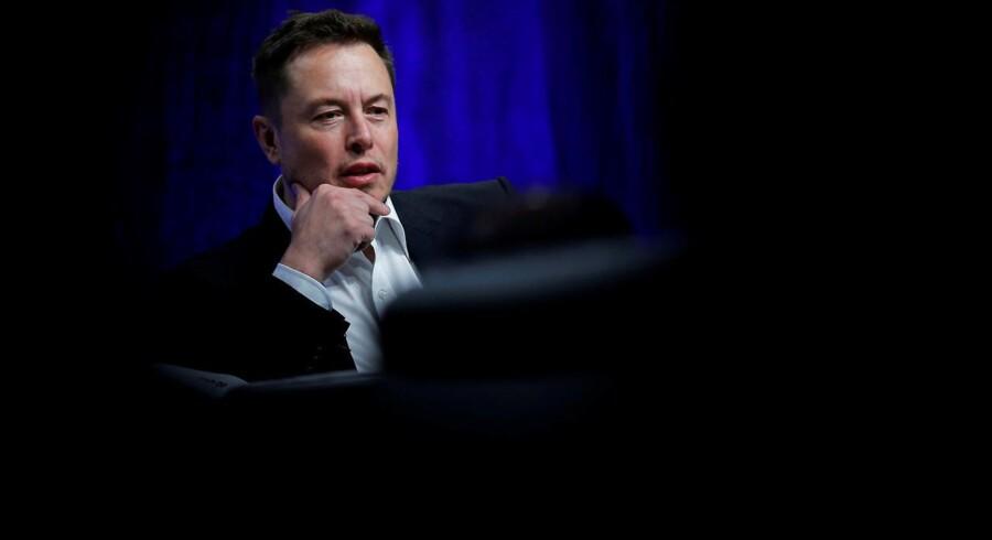 Arkivfoto. Tesla-stifteren, Elon Musk.