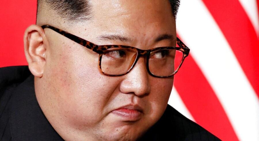 Ingen ved, hvad der rører sig i Kim Jong-uns hoved, men der er ingen tegn på Nordkoreansk afrustning. Foto: Jonathan Ernst/Ritzau Scanpix