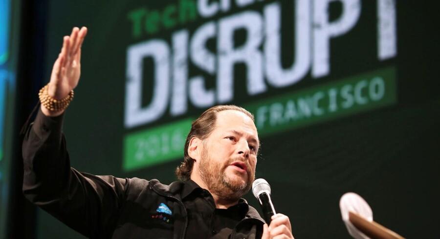 Marc Benioff stiftede sin første virksomhed som 15-årig og bliver opfattet som den fødte leder. Arkivfoto: Beck Diefenbach/Reuters/Ritzau Scanpix