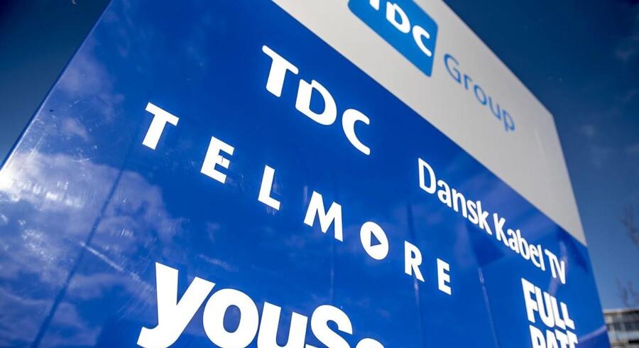 TDC presses af færre TV-kunder, som skæpper godt i regnskabet, og af kampen om erhvervskunderne i Danmark. Til gengæld vokser antallet af mobilkunder, efter at TDC nappede en vigtig statsaftale fra Telenor. Arkivfoto: Mads Claus Rasmussen, Scanpix