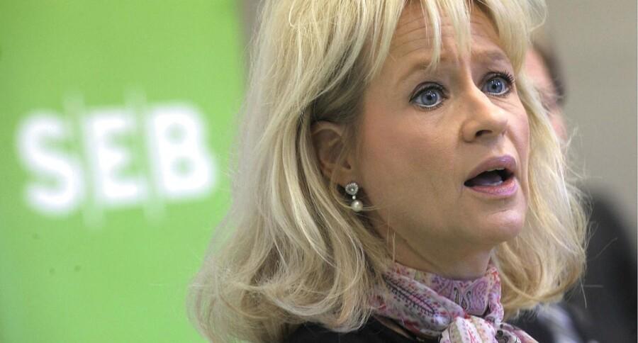 Hvis Danske Bank kan lykkes med at lokke den tidligere SEB-topchef Annika Falkengren tilbage i rotteræset efter hendes schweiziske »exil«, så vil hun ifølge flere headhuntere være det oplagte bud på at overtage efter Thomas Borgen i Danske Bank. Arklivfoto: Fredrik Sandberg/AFP