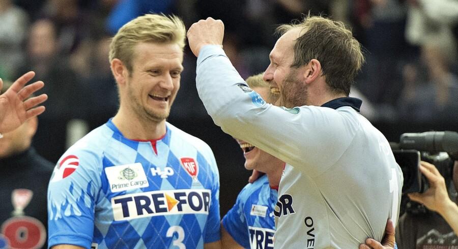 Både Lasse Boesen og Kasper Hvidt spillede i løbet af deres spillerkarrierer for KIF Kolding. Henning Bagger/arkiv/Ritzau Scanpix