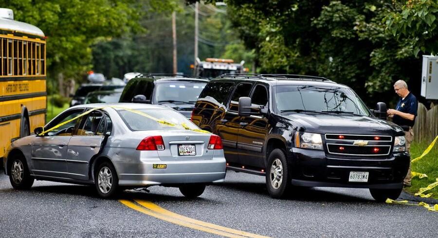 Lokale beboere opfordres til at holde sig på afstand af gerningsstedet i delstaten Maryland.