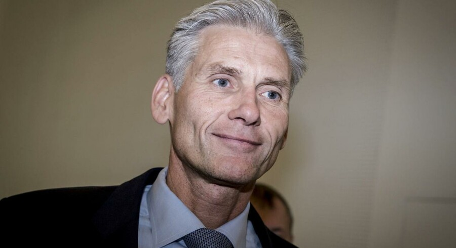 Thomas F. Borgen, afgående direktør i Danske Bank efter pressemøde, hvor Danske Bank har offentliggjort sin egen undersøgelse af hvidvask i Tivoli Kongres Center i København, onsdag den 19. juni 2018. (Foto: Mads Claus Rasmussen/Ritzau Scanpix)