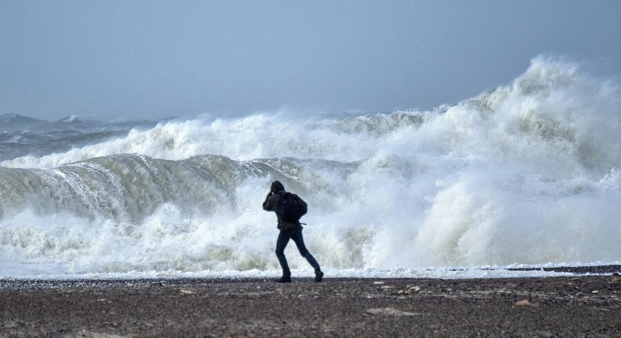 Stormen Knud har ført voldsomt vejr med sig i flere lande. Blandt andet som her ved Danmarks vestkyst. Henning Bagger/Ritzau Scanpix