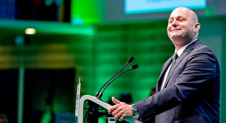 Søren Papes tale tale blev leveret med energi på de Konservatives landsråd. Foto: Bax Lindhardt/ Scanpix