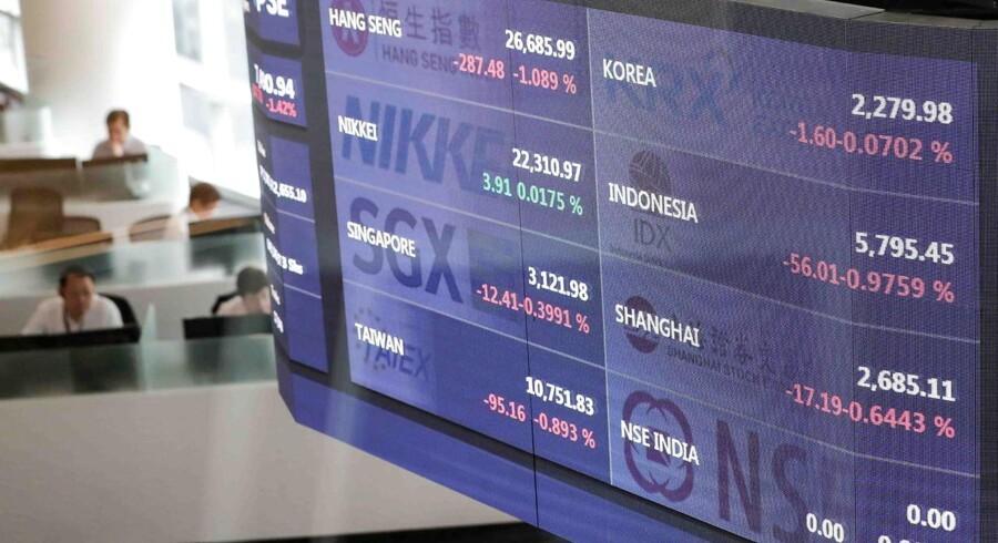 De asiatiske aktiemarkeder dykker i supertynd handel mandag, hvor Kinas nej til nye handelsforhandlinger med USA præger de finansielle markeder, på en dag hvor størstedelen af de fjernøstlige markeder er lukket for jævndøgnsfejring.