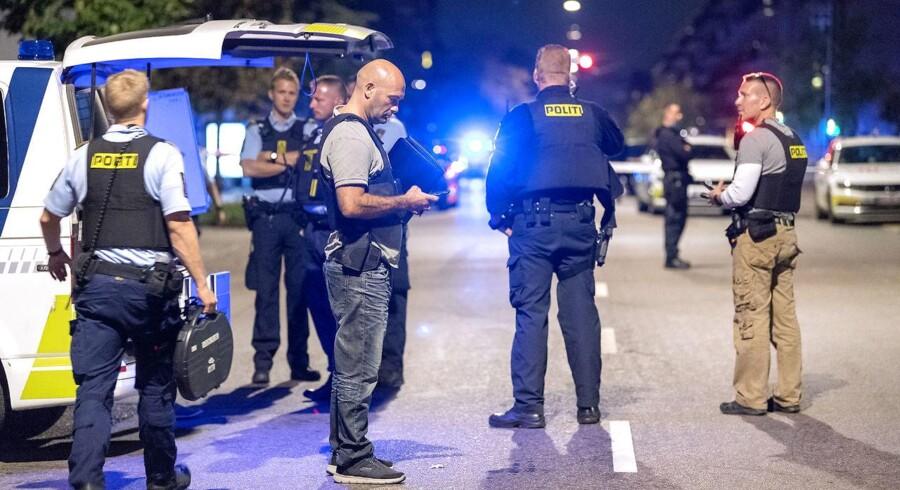 Politiet til stedet ved Bolsjefabrikken i Ragnhildsgade på Nørrebro i København, onsdag aften den 19. september 2018.