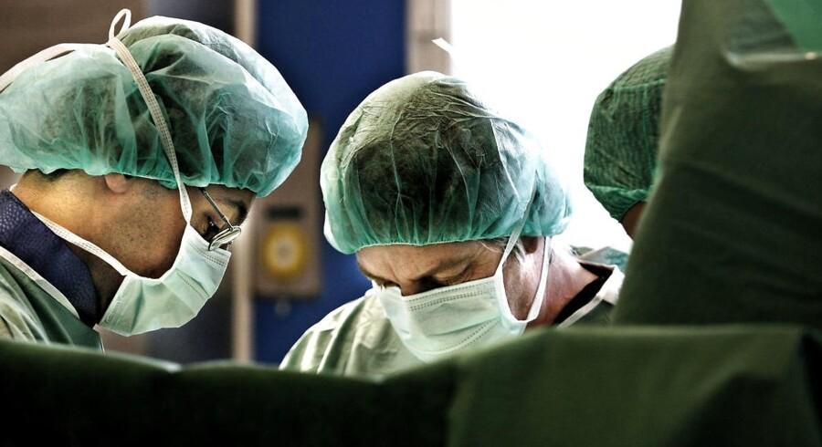 Operation på Gentofte Sygehus. Arkivfoto.