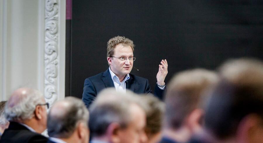 Steffen Damsgaard fra Landsdistrikternes Fællesråd under en høring i Folketinget onsdag d. 26 november 2014 om lån på landet.