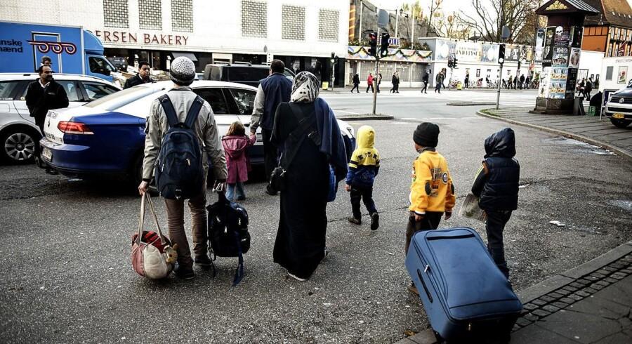 Flygtninge ved Københavns Hovedbanegård den 12. november 2015. Billedet er et arkivfoto og menneskene på billedet er derfor ikke nødvendigvis tilbagerejsende flygtninge.
