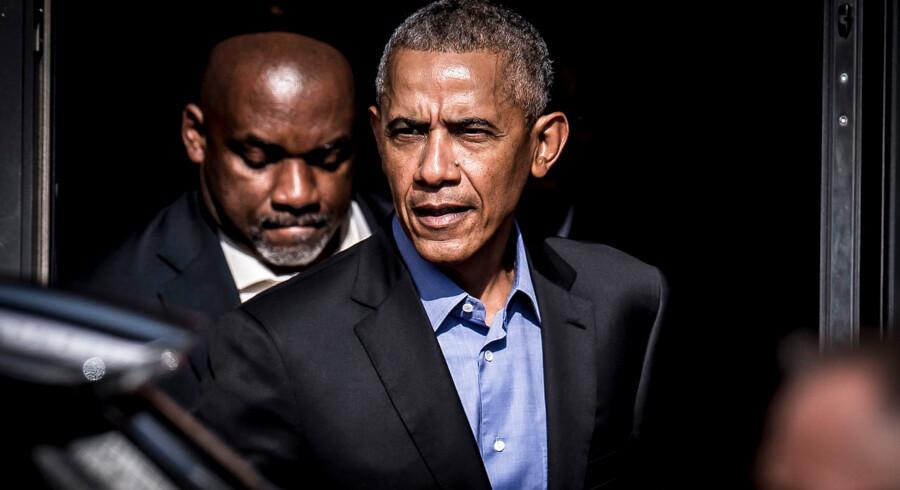 """Den tidligere amerikanske præsident Barack Obama deltager i """"A conversation with President Barack Obama"""" på SDU Kolding, fredag den 28. september 2018."""