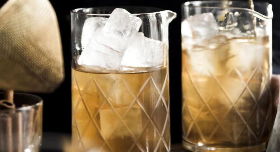 Old Fashioned med smørvasket whisky.