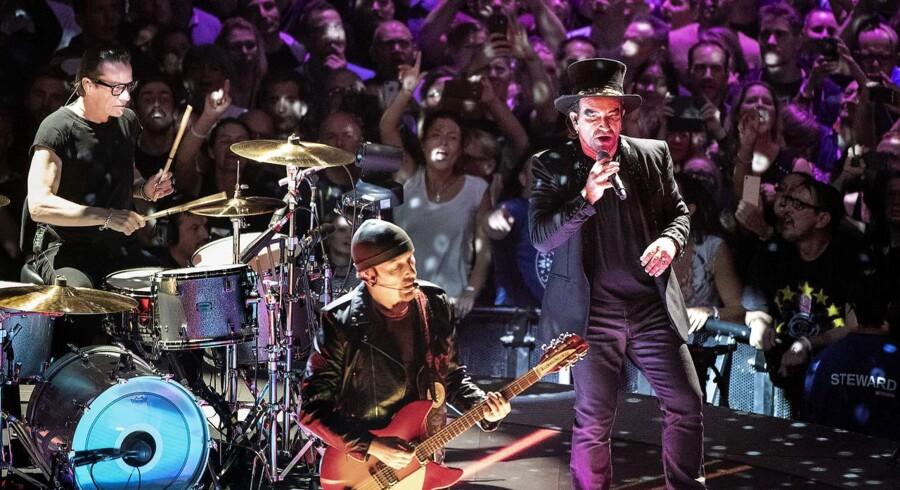 U2 koncert i Royal Arena i København. Koncerten er en del af gruppens 'Experience + Innocence Tour', hvor de besøger en stribe europæiske storbyer. Lørdag den 29. september 2018. (Foto: Nils Meilvang/Ritzau Scanpix)