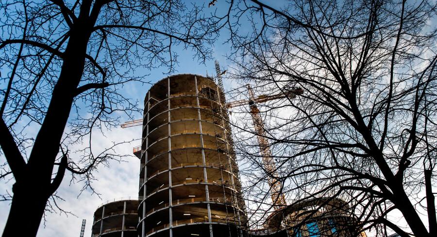 København har de seneste år fået en række højhuse. Her er det Axel Towers på Axel Plads.