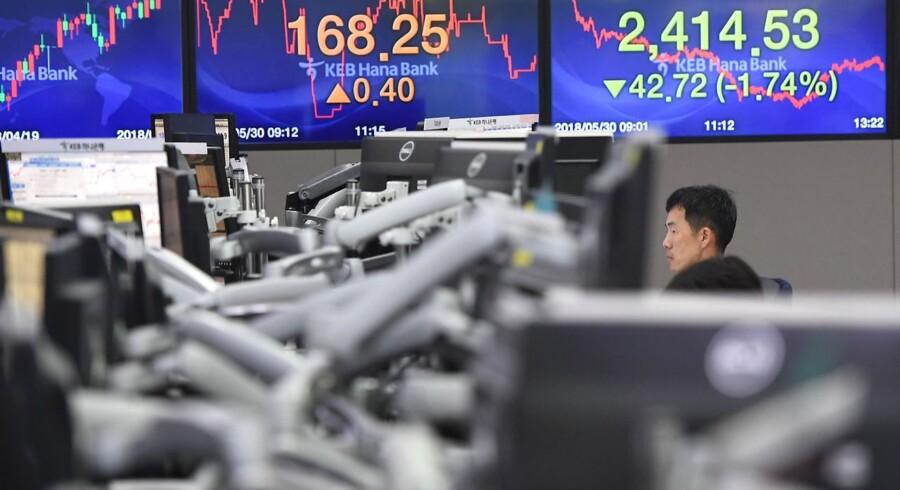 De asiatiske aktiemarkeder ligger let blandet mandag morgen, hvor de store japanske eksport-aktier fortsætter det positive ridt, mens Canada og USA er blevet enige om en opdatering af Nafta-frihandelsaftalen, der også inkluderer Mexico.
