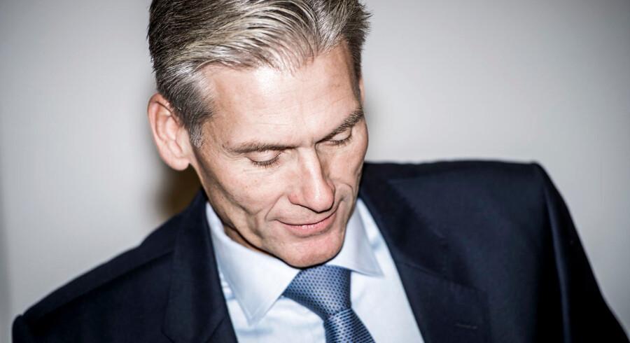 CEO Thomas Borgen træder tilbage, når banken har fundet en afløser.