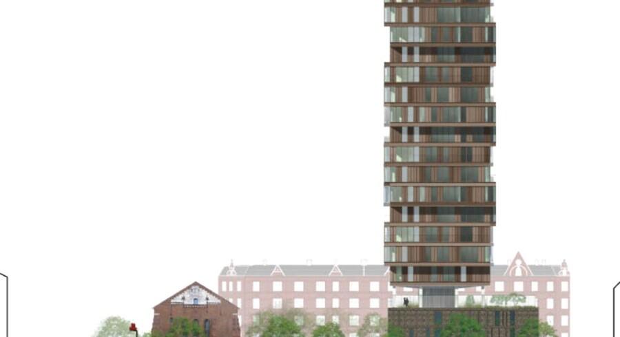 Radikale, SF, Enhedslisten og Alternativet har netop sagt nej til dette byggeri på Nuuks Plads på Nørrebro.